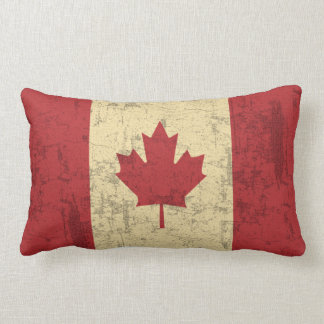 Flag of Canada Vintage Distressed Pillow
