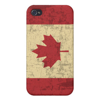 Flag of Canada Vintage Distressed iPhone 4/4S Cases