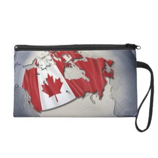 Flag of Canada Wristlet Purses
