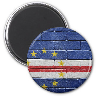 Flag of Cape Verde 6 Cm Round Magnet