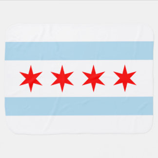 Flag of Chicago Baby Blankets