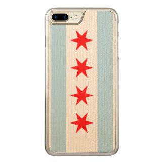 Flag of Chicago Carved iPhone 8 Plus/7 Plus Case