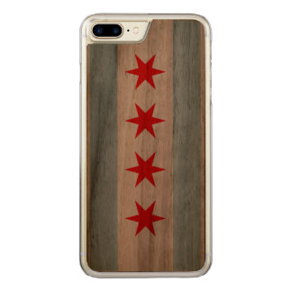 Flag of Chicago Carved iPhone 8 Plus/7 Plus Case