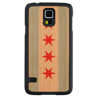 Flag of Chicago Carved® Cherry Galaxy S5 Case