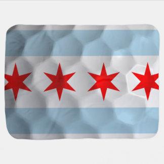 Flag of Chicago Golf Ball Baby Blanket