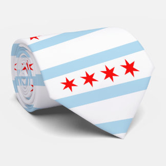 Flag of Chicago, Illinois Tie