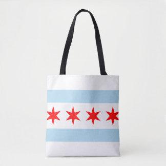 Flag of Chicago, Illinois Tote Bag