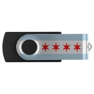 Flag of Chicago, Illinois USB Flash Drive