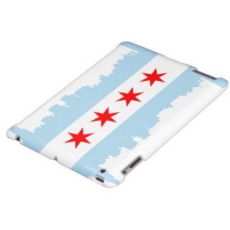 Flag of Chicago Skyline iPad Case
