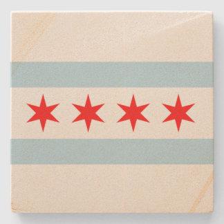 Flag of Chicago Stone Coaster