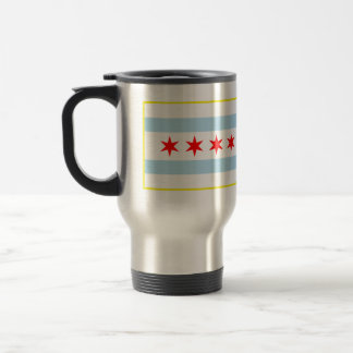 Flag of Chicago Travel Mug