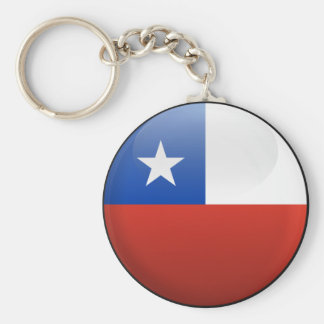 Flag of Chile Basic Round Button Key Ring