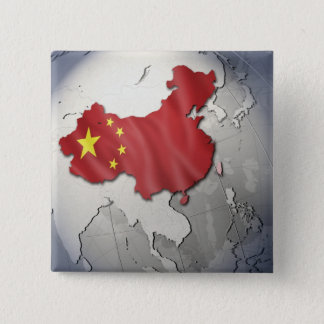 Flag of China 15 Cm Square Badge