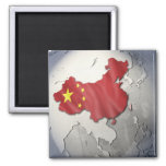 Flag of China Square Magnet