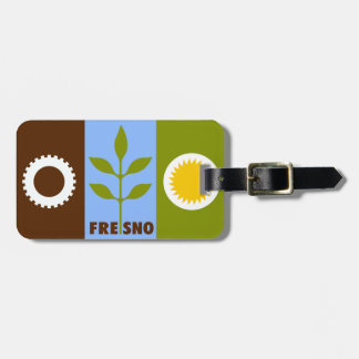 Flag of city of Fresno, California Luggage Tag