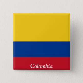 Flag of Colombia 15 Cm Square Badge