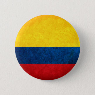 Flag of Colombia 6 Cm Round Badge