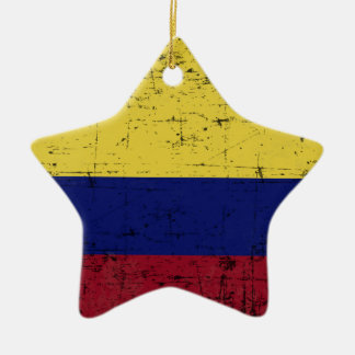 Flag of Colombia Ceramic Star Decoration