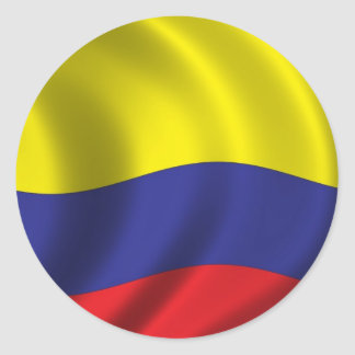 Flag of Colombia Classic Round Sticker