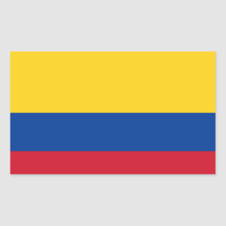Flag of Colombia Rectangular Sticker
