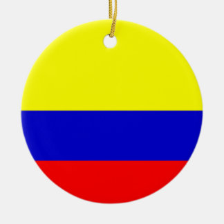 Flag of Colombia Round Ceramic Decoration