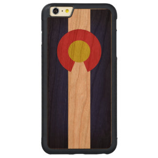 Flag of Colorado Carved Cherry iPhone 6 Plus Bumper Case