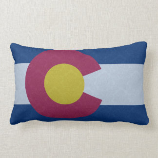 Flag of Colorado Damask Pattern Lumbar Cushion