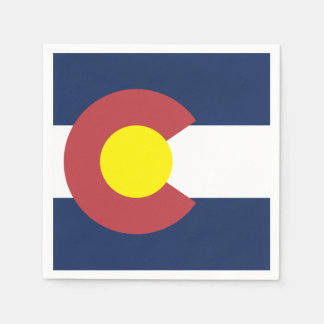 Flag of Colorado Disposable Napkin