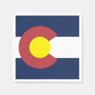 Flag of Colorado Disposable Serviettes