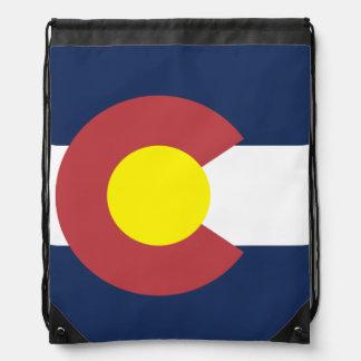Flag of Colorado Drawstring Bag