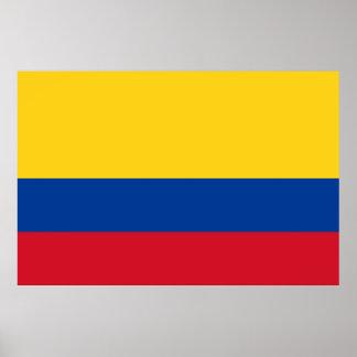 Flag of Columbia Bandera De Colombia Poster