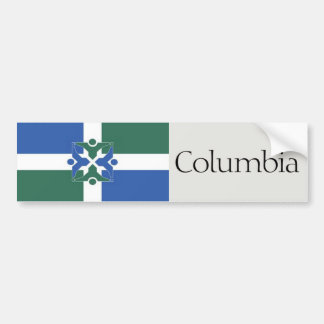 Flag of Columbia, Missouri bumper sticker