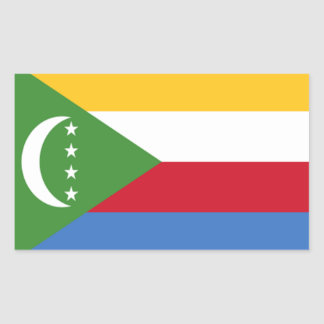 Flag of Comoros Rectangular Sticker