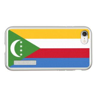 Flag of Comoros Silver iPhone Case