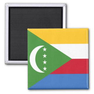 Flag of Comoros Square Magnet