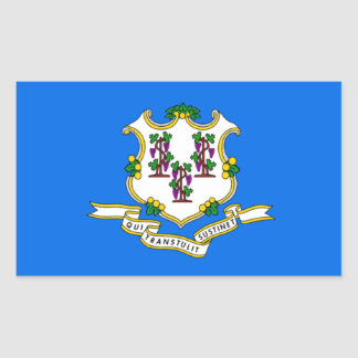 Flag of Connecticut Rectangle Stickers