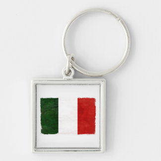 Flag of Consumed Italy Silver-Colored Square Key Ring