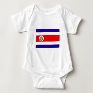 Flag of Costa Rica Baby Bodysuit