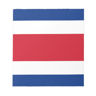 Flag of Costa Rica Notepad