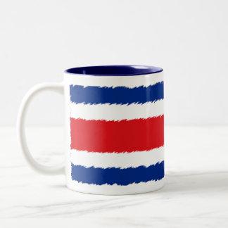 Flag of Costa Rica Two-Tone Mug