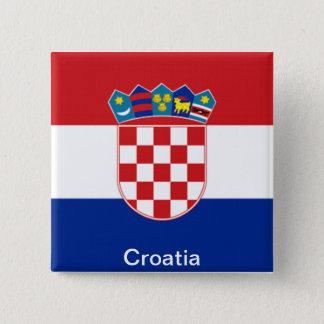 Flag of Croatia 15 Cm Square Badge