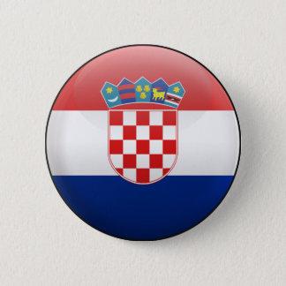 Flag of Croatia 6 Cm Round Badge