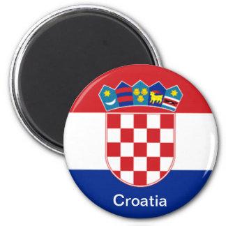 Flag of Croatia 6 Cm Round Magnet