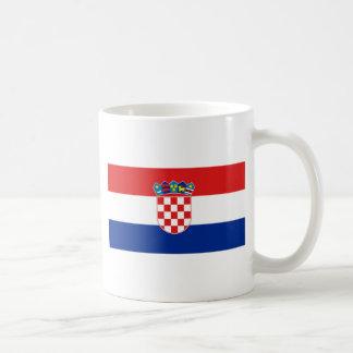 Flag of Croatia Basic White Mug