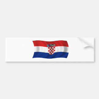 Flag of Croatia Bumper Sticker