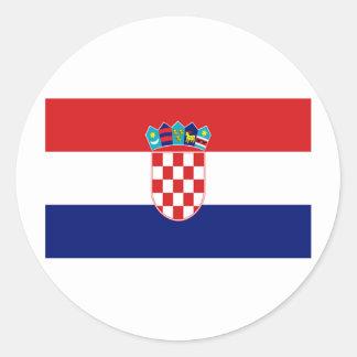 Flag of Croatia Classic Round Sticker