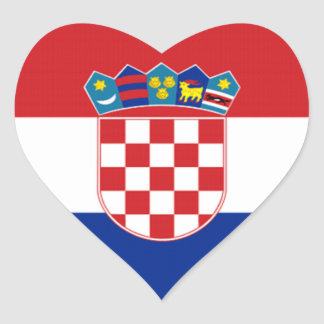 Flag of Croatia Heart Sticker