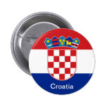 Flag of Croatia Pinback Buttons