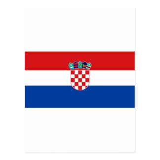 Flag of Croatia Postcard