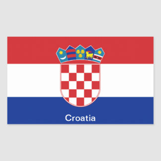 Flag of Croatia Rectangular Sticker